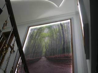 Minimalist corridor, hallway & stairs by rwiçmimari Minimalist