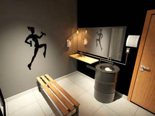 Espacios comerciales de estilo industrial de Hizzey Arquitetura e Interiores Industrial