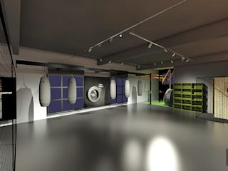 Espaces commerciaux industriels par Hizzey Arquitetura e Interiores Industriel