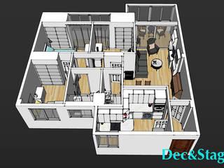 Plano general de la vivienda en 3D:  de estilo  de Dec&Stage