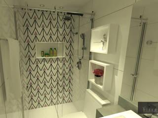Baños de estilo moderno de Hizzey Arquitetura e Interiores Moderno