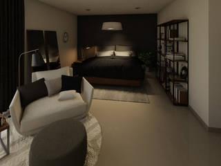 Hogar de soltero Gdl Dormitorios modernos de Dania MStudio Moderno
