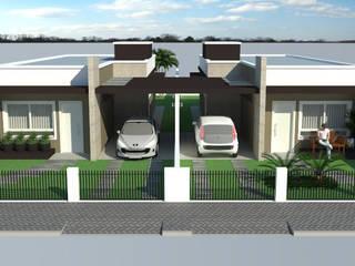 Casas modernas de Grama Arquitetura Moderno