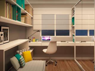Home Office | FC Escritórios modernos por CMS.ARQ - Camila Machado Salmória Moderno
