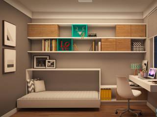Home Office | FC Quartos modernos por CMS.ARQ - Camila Machado Salmória Moderno