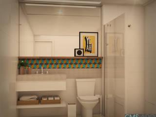 Banheiro | FC Banheiros tropicais por CMS.ARQ - Camila Machado Salmória Tropical