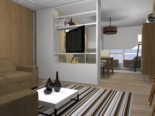 Salones de estilo moderno de RHAJA ARQUITETURA Moderno
