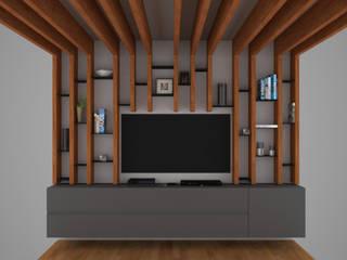 Mueble tv Montaña:  de estilo  por xma studio
