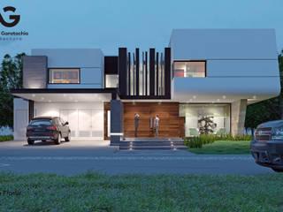 Casa T-61 Casas modernas de Aguilar + Gartachia arquitectura Moderno