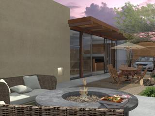 RESIDENCIA IBAR: Jardines de estilo  por COTA ESTÉVEZ ARQUITECTURA