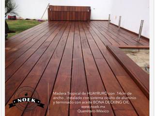 TERRAZA DE HUAYRURÓ: Jardines de estilo  por Noek Pisos de Madera y Carpintería