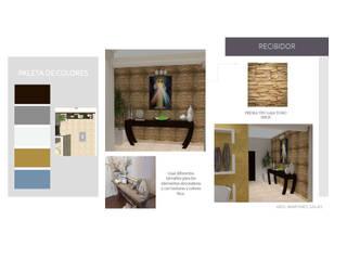 INTERIORISMO PARA UNA VIVIENDA UNIFAMILIAR DE 2 NIVELES Pasillos, vestíbulos y escaleras de estilo moderno de MAS ARQUITECTURA1 - Arq. Marynes Salas Moderno