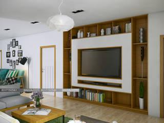 3D VISUALIZATION Scandinavian style living room by FREELANCE Scandinavian