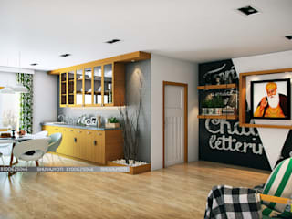 3D VISUALIZATION Scandinavian style dining room by FREELANCE Scandinavian