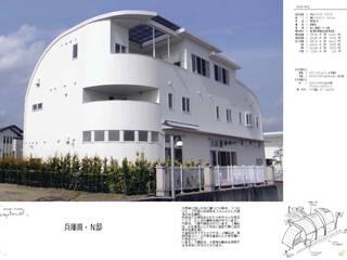 海側の外観: スタジオドディチが手掛けた家です。
