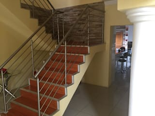 Client in Centurion Modern Corridor, Hallway and Staircase by Nozipho Construction Modern