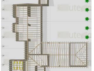 VIVIENDA UNIFAMILIAR EN VILLARROBLEDO:  de estilo  de CUTECMA Estructuras de madera