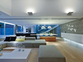 House in Shatin :  Living room by Millimeter Interior Design Limited, Modern