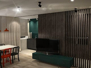 Project 1: styl , w kategorii Salon zaprojektowany przez Luxon Modern Design Łukasz Szadujko