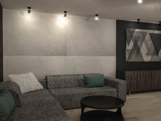 Project 1 Eklektyczny salon od Luxon Modern Design Łukasz Szadujko Eklektyczny