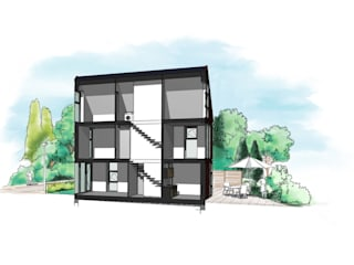 Woning Datcha 1 Moderne huizen van Wessel van Geffen Architecten Modern