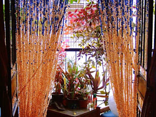 Navy New Champagne Acrylic Crystal Bead Curtain Modern hotels by Memories of a Butterfly: bead curtains/screens/installations/Hanging Sculptures Modern