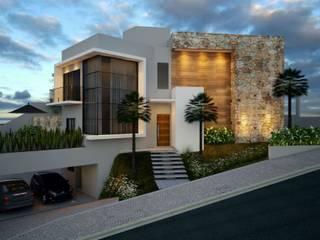 Residência em Mairinque: Casas  por Valentina Peroni Arquitetura e Construção,Moderno