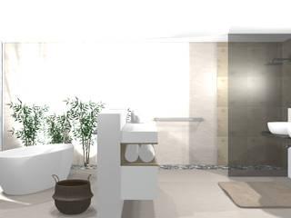 Casas de banho modernas por wohnly Moderno Bambu Verde