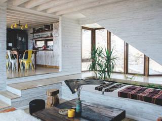 living y comedor-cocina Salones rústicos rústicos de Thomas Löwenstein arquitecto Rústico Madera Acabado en madera