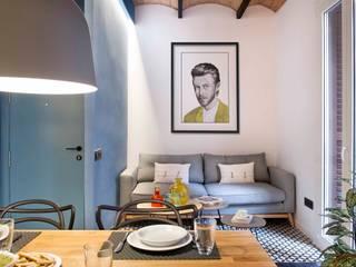 Urban beach home Salones de estilo mediterráneo de Egue y Seta Mediterráneo