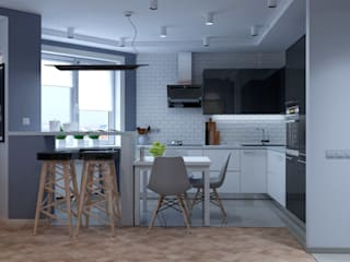 ДизайнМастер Industrial style kitchen Grey