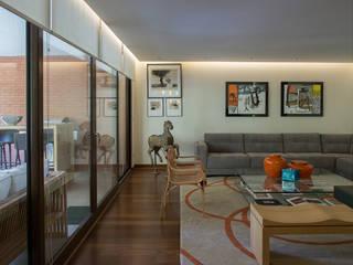 vista living y terraza: Livings de estilo ecléctico por Thomas Löwenstein arquitecto