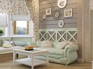 ДизайнМастер Country style living room Beige