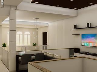 Sixty9 3D Design Salas multimedia de estilo minimalista