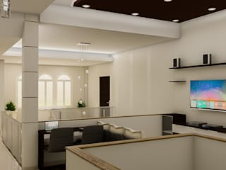 Salas de entretenimiento de estilo minimalista de Sixty9 3D Design Minimalista