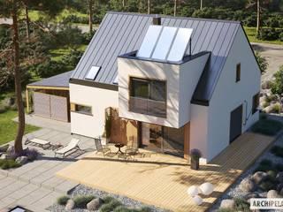 Projekt domu Neli W2 ENERGO PLUS - komfort na najwyższym poziomie Nowoczesne domy od Pracownia Projektowa ARCHIPELAG Nowoczesny