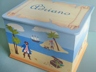 Pirate Island Toy Box:   by Anne Taylor Designs