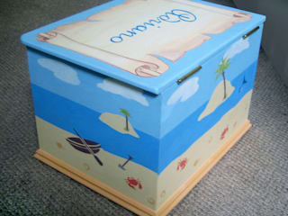 Pirate Island Toy Box: modern  by Anne Taylor Designs, Modern