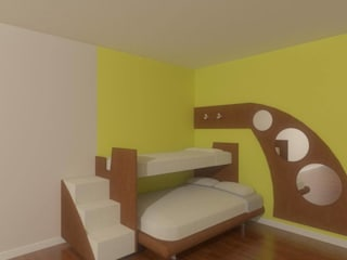 Kids room in 2BHK, Ramky Towers:   by Kreative design studio