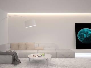 Квартира в Одессе Dmitriy Khanin Гостиная в стиле минимализм Дерево Белый