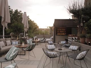 Hotel Oasis Barcelona Naturalgardens Tindas project s.l Jardines de estilo mediterráneo Madera Acabado en madera