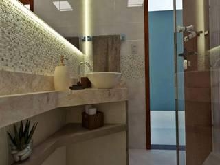 Reforma - Banheiro Social :   por Raphaela Linhares - Arquitetura e Interiores