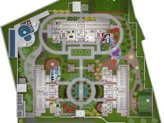 Híbrida Arquitetura, Engenharia e Construção Modern style gardens