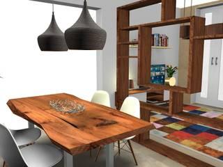 Sala Comum - Espaço Pequeno Pensado ao milímetro... Salas de jantar escandinavas por As Marias - Decoração de Interiores (Flora Freitas) Escandinavo
