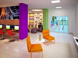 Híbrida Arquitetura, Engenharia e Construção Modern Media Room