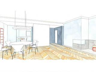 Modern Dining Room by studio ixylon Modern