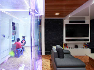 Letrán Valle: Salas multimedia de estilo  por All Arquitectura