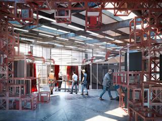 Eurowelding MX: Estudios y oficinas de estilo  por All Arquitectura
