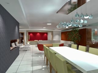 Departamento Fuentes de Interlomas Comedores modernos de simon&diseño Moderno