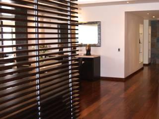 Departamento 2 Vistas, Santa Fe Pasillos, vestíbulos y escaleras modernos de simon&diseño Moderno